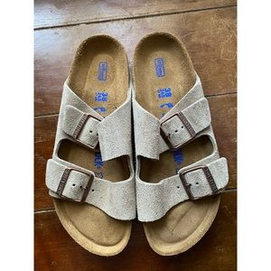 NEW Birkenstock Arizona Suede Sandals Taupe